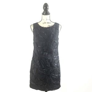 Cato 8 Dress Black Textured Sleeveless Crewneck